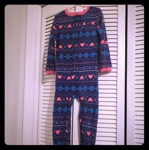 2 pairs!! Girls footed onsie pjs